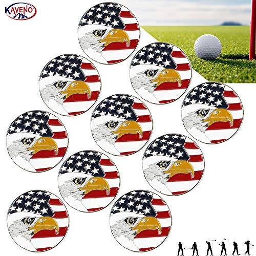 KAVENO Golf Ball Marker Series, Assorted Design, Pack of 5/10/20 (Eagle - ()