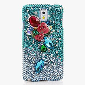 Galaxy S9 Case, [Premium Handmade Quality] Bling Genuine Crystals Protective Case Cover for Samsung Galaxy S9 [by Luxaddiction] BE DAZZLED Rose Design