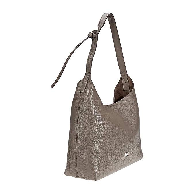 7e4646424 Michael Kors Junie Medium Pebbled Leather Shoulder Bag- Mushroom: Handbags:  Amazon.com