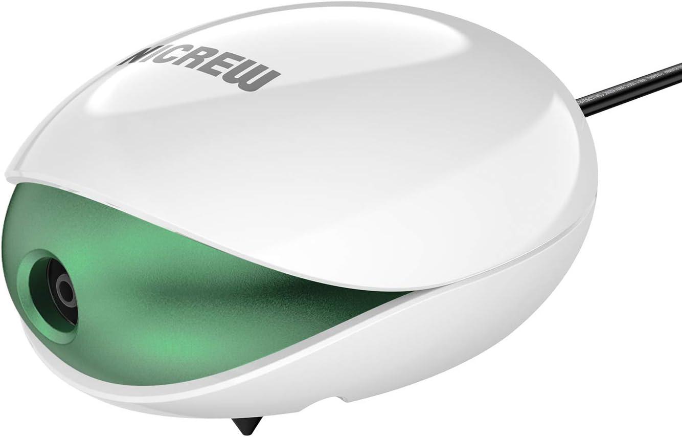 NICREW Bomba de Aire para Acuario hasta 100 L, Oxigenador Acuario Ultra-Silencioso <35 dB con Aireador, Flujo de Aire Está en 4 L/Min, 1,7 W