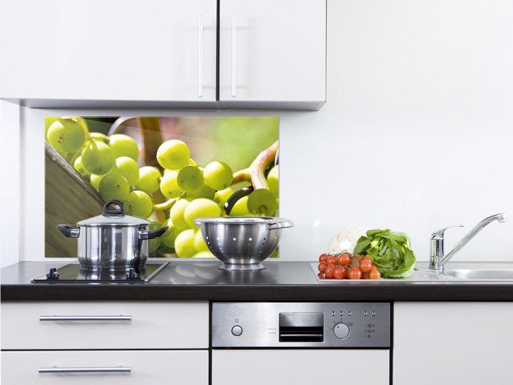 GRAZDesign 200094_60x40_SP Küchen-Spritzschutz aus Echtglas | Bild-Motiv Weintrauben | Glasbild ALS Küchenrückwand - Küchenspiegel (60x40cm)