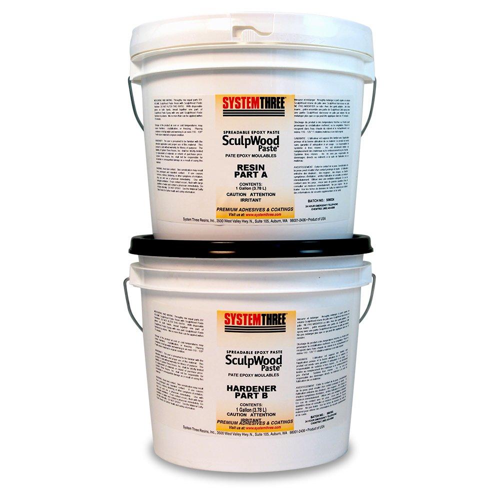 Amazon.com: System Three Resins 1-Quart SculpWood Epoxy Paste Kit ...