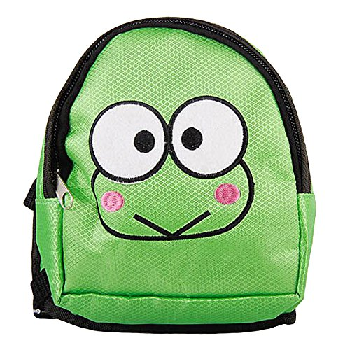Happy Hours - S Size Cute Multi-functional Pet Traction Small Backpack / Cartoon Pattern Dogs Own Bag / Nylon Fabric Material Pet Knapsack / Convenient for Travelling Walking Without Leash(Green (Happy Green Frog)