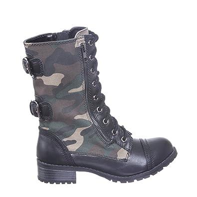 Amazon.com | New! Military Combat Boot Fold-over Cuff multi-color ...