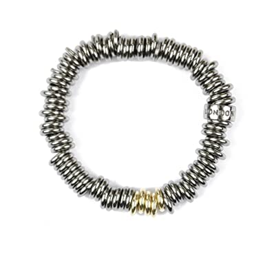 a33c5debb26b2 Links of London Silver Black Rhodium & 18ct Yellow gold Sweetie Bracelet  RRP £265: Amazon.co.uk: Jewellery