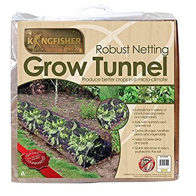 Kingfisher Net Tunnel - Garden Netting Cloche - Grow Tunnel Plant Cover by Kingfisher