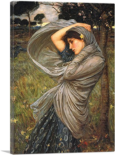"ARTCANVAS Boreas 1903 Canvas Art Print by John William Waterhouse- 26"" x 18"" (0.75"" Deep)"