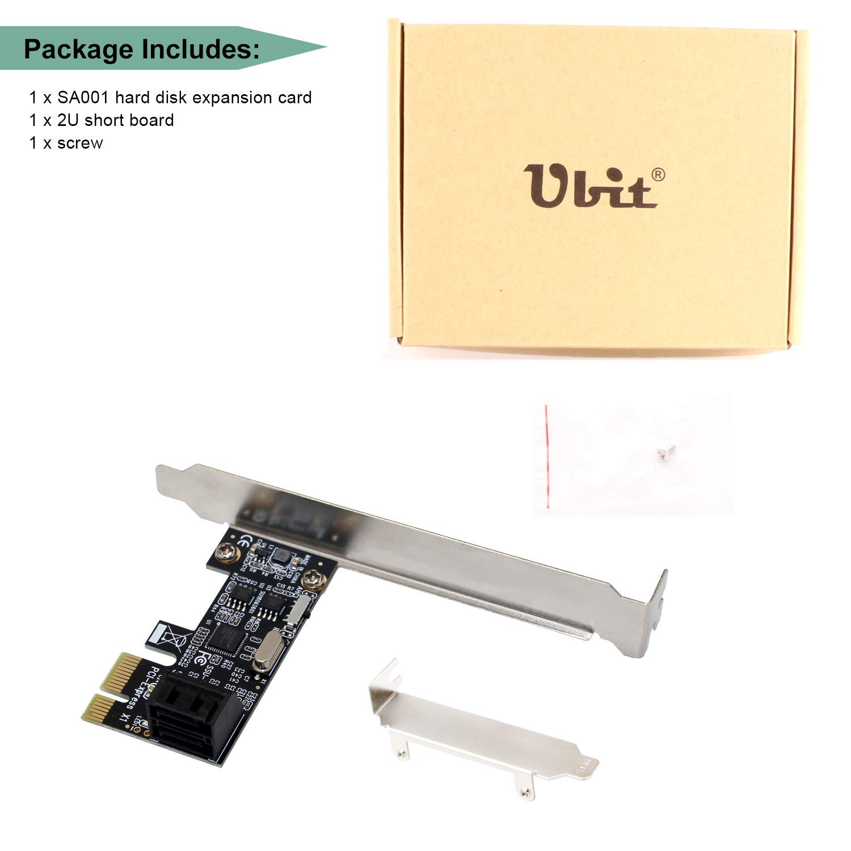 Adattatore di Controller di concentrateur PCI-E a SATA 3.0/2/Porte Ubit Scheda SATA PCIe Scheda di Disco Rigido ipfs Scheda di espansione 2/Porte SATA 3.0/Verso Scheda PCI Express