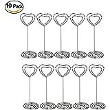 Wskderliner Heart Swirl foto del supporto base ad anello con clip per segnaposto per matrimoni e altre occasioni, confezione da 10