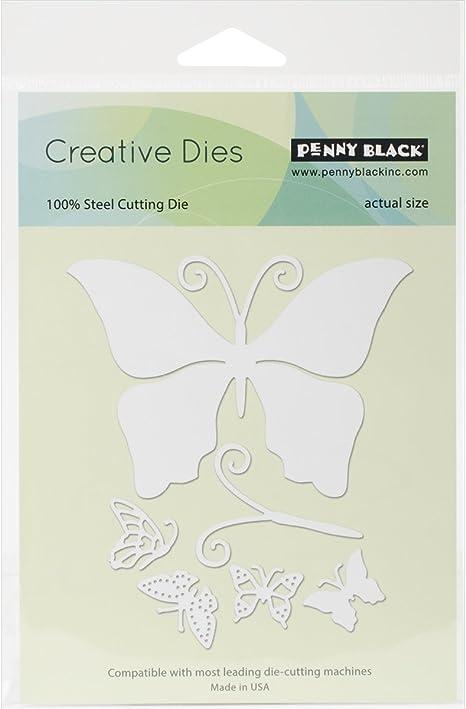 51-132 NEW Flights Of Fancy Butterflies Steel Die Cutting Dies PENNY BLACK