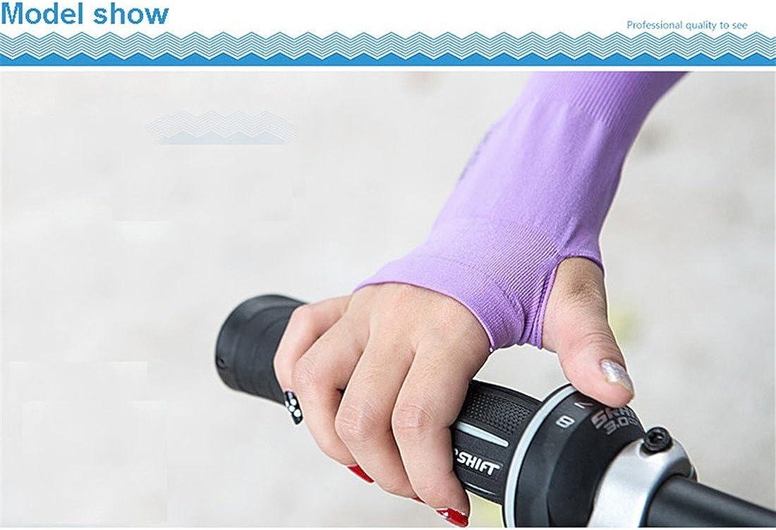 Luckyrao Zwei Paar Armsch/ützer Sonnenschutz geeignet zum Laufen und Radfahren ein Paar wei/ß und ein Paar schwarz