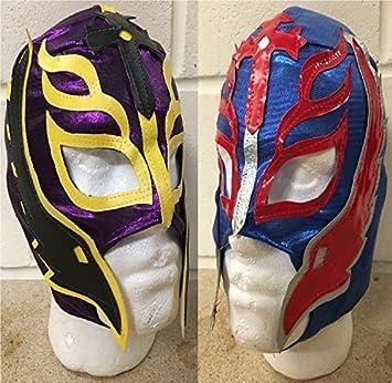 WRESTLING MASKS UK Two - Rey Mysterio - Aleatorios Colores Provisto - Infantil - Cremallera Máscara