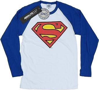 DC Comics mujer Superman Logo Camisa de manga larga de béisbol: Amazon.es: Ropa y accesorios