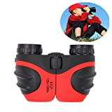 DMbaby 8x21 Compact Fogproof Binoculars for Hiking Hunting Birthday Gifts for Boys Red DL04