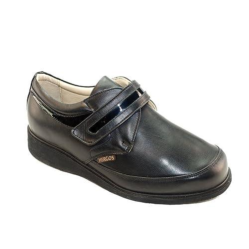 Hergos H 020 Negro Nappaflex - Zapato ergonómico para juanetes - calzata Extra Large - Precio ribassato Ultimi números Negro Size: 37: Amazon.es: Zapatos y ...