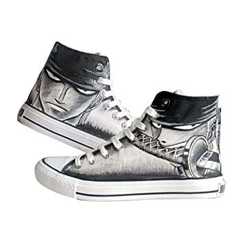 Una Pieza Luffy Zoro Ace Ley Cosplay Zapatos Zapatillas Zapatos de Lona Pintado a Mano Zapatos 4 Opciones, Zoro Black: Amazon.es: Deportes y aire libre
