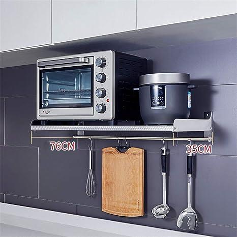 QINAIDI Estante de microondas para Horno de Cocina montado en la ...