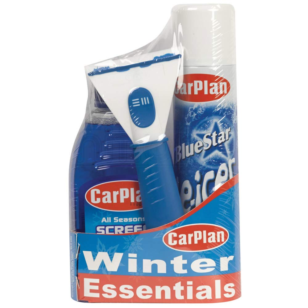 IgnitionLine CarPlan Car Winter Essentials Travel Gift Pack Kit De Icer, Ice Scraper & Screen Wash Melt Care Air Freshener