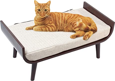 Penn Plax Luxury Cat Bed Lounger, Mid Century Modern Cat Furniture, For All  Size