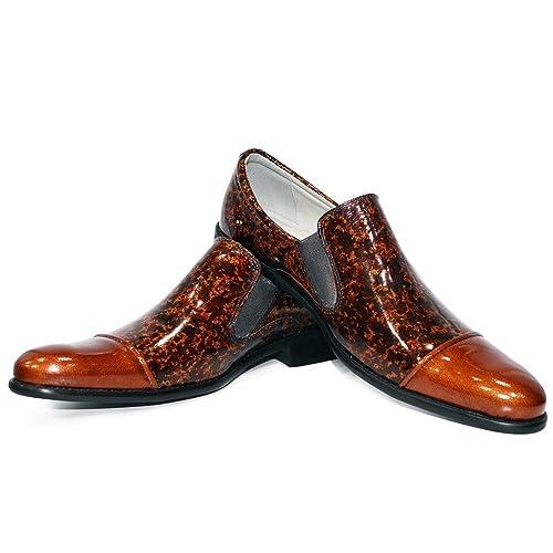 Modello Bromo - Cuero Italiano Hecho A Mano Hombre Piel Marrón Mocasines y Slip-Ons Loafers - Cuero Cuero Suave - Ponerse: Amazon.es: Zapatos y complementos