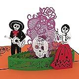 Lovepop Day of the Dead Pop Up Card, 3D Card, Halloween Card