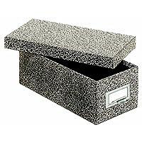 Caja de almacenamiento de tarjetas de índice Globe-Weis /Pendaflex, 3 x 5 pulgadas, ágata negra (93 BLA)