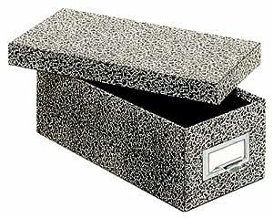 Globe-Weis Fiberboard Index Card Storage Box, 3 x 5 Inches, Black Agate (93 BLA)