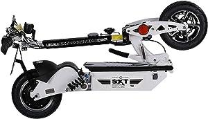 Trottinette électrique homologuée SXT 1000 XL EEC blanche pliée