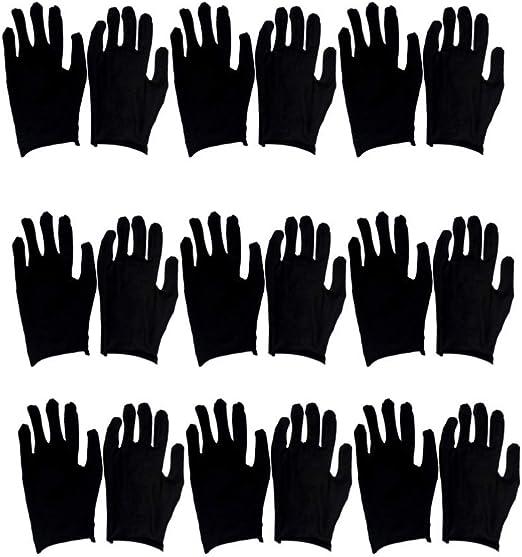 Trysha 24 pares de guantes de algodón para protceción de mano para ...