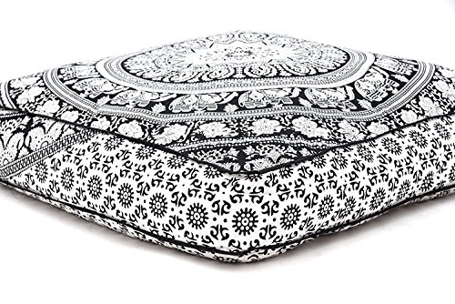 elephant mandala floor pillow indian