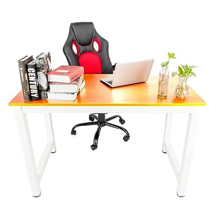 Amazon.com : SSLine Modern Computer Desk Wooden Home Office ...