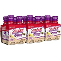 12-Pack Slimfast Advanced Nutrition Vanilla Cream Shake, Ready To Drink Meal Replacement, 11 Fl. Oz. Bottle
