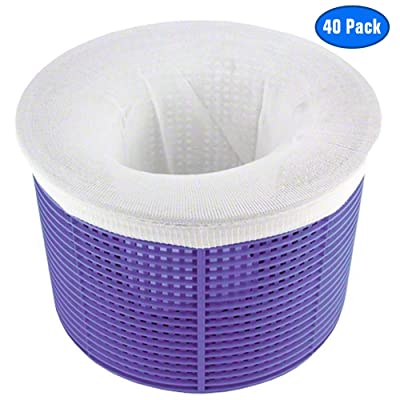 Jixiangdou Pool Skimmer Socks, Pack of 40 Filter Nets Swimming Pool, Fine Nylon Mesh Sock Liner Saves Filters, Perfect Savers for Baskets & Skimmers, Removes Debris, Leaves (Basket not Included) : Garden & Outdoor