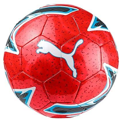 Puma One Laser Ball Balón de Fútbol, Unisex Adulto, Red Blast/Bleu ...