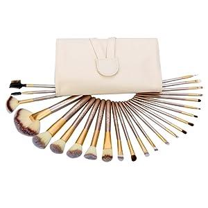 Abody 24Pcs Pinceaux de Maquillage Professionnels Kit de Brosses Cosmétique avec un Sac Brosse pour Fond de Teint,Poudre Sourcil,Fard à Paupière