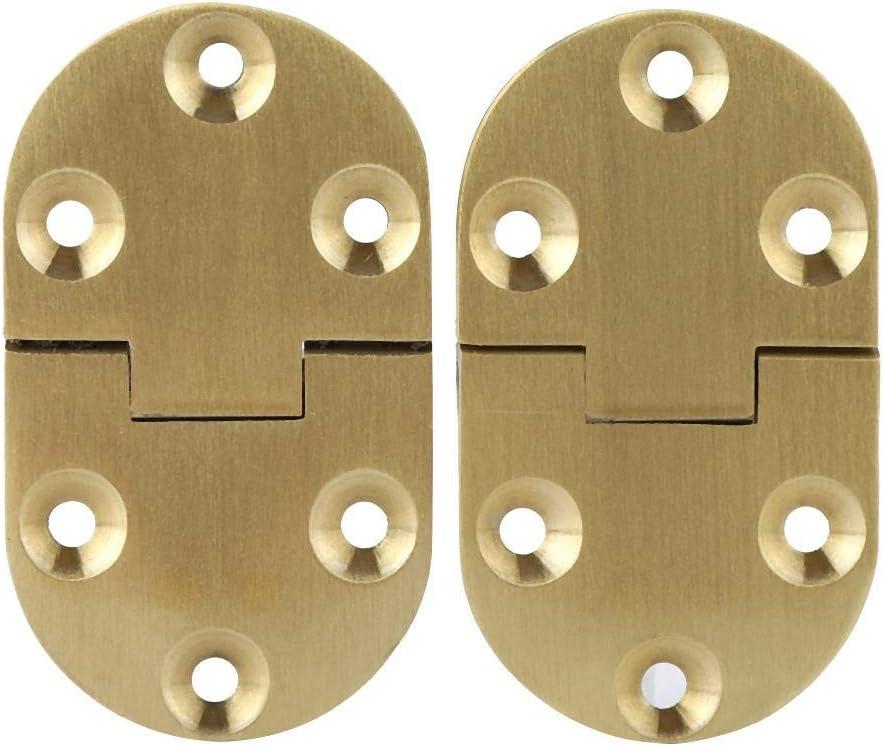 FTVOGUE - 2 bisagras Plegables de Metal de aleación de Zinc, Borde Redondo para máquina de Coser