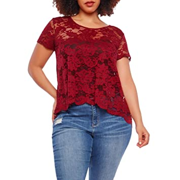 Top Femme Taille Grande Lot YWEDHI29
