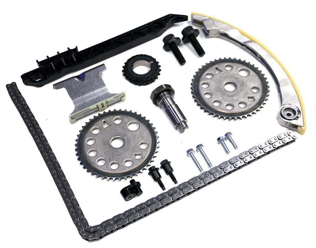 Inner Fire Engine Parts 00-11 Chevrolet Oldsmobile Pontiac Saturn GM 2.0 2.2 2.4 DOHC Ecotec Full Timing Chain Kit With Bolt Set Nozzle For Cam Shaft IF-94201S