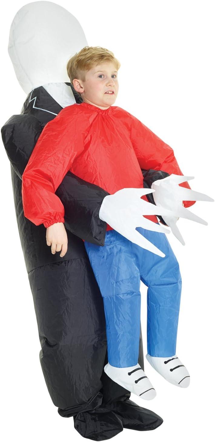 Morph Divertido Disfraz Inflable Slenderman Niños - Una talla le ...