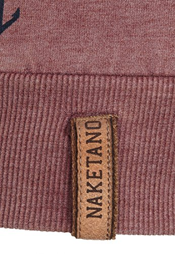 Naketano Female Sweatshirt Love Is A Trip Heritage Bordeaux Melange 5iw03