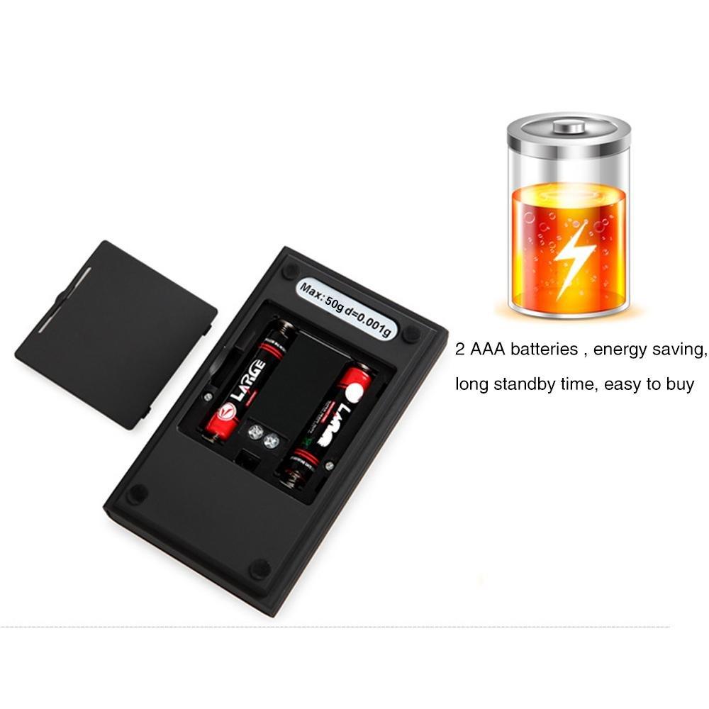 Escala Digital Milligram, Aolvo 50 x 0, 001 g Digital Milligram Báscula de Bolsillo Multifuncional Precisión Electrónica Mini Joyería Oro Powder Báscula con ...
