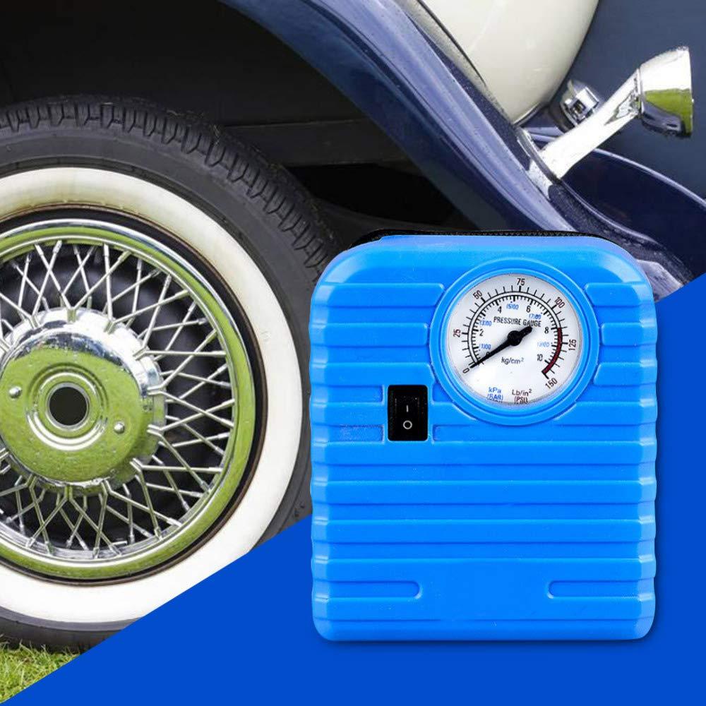 Iycorish 12V Portable Mini Emergency Auto Tyre Inflatable Pump High Pressure Tire Inflator Air Compressor
