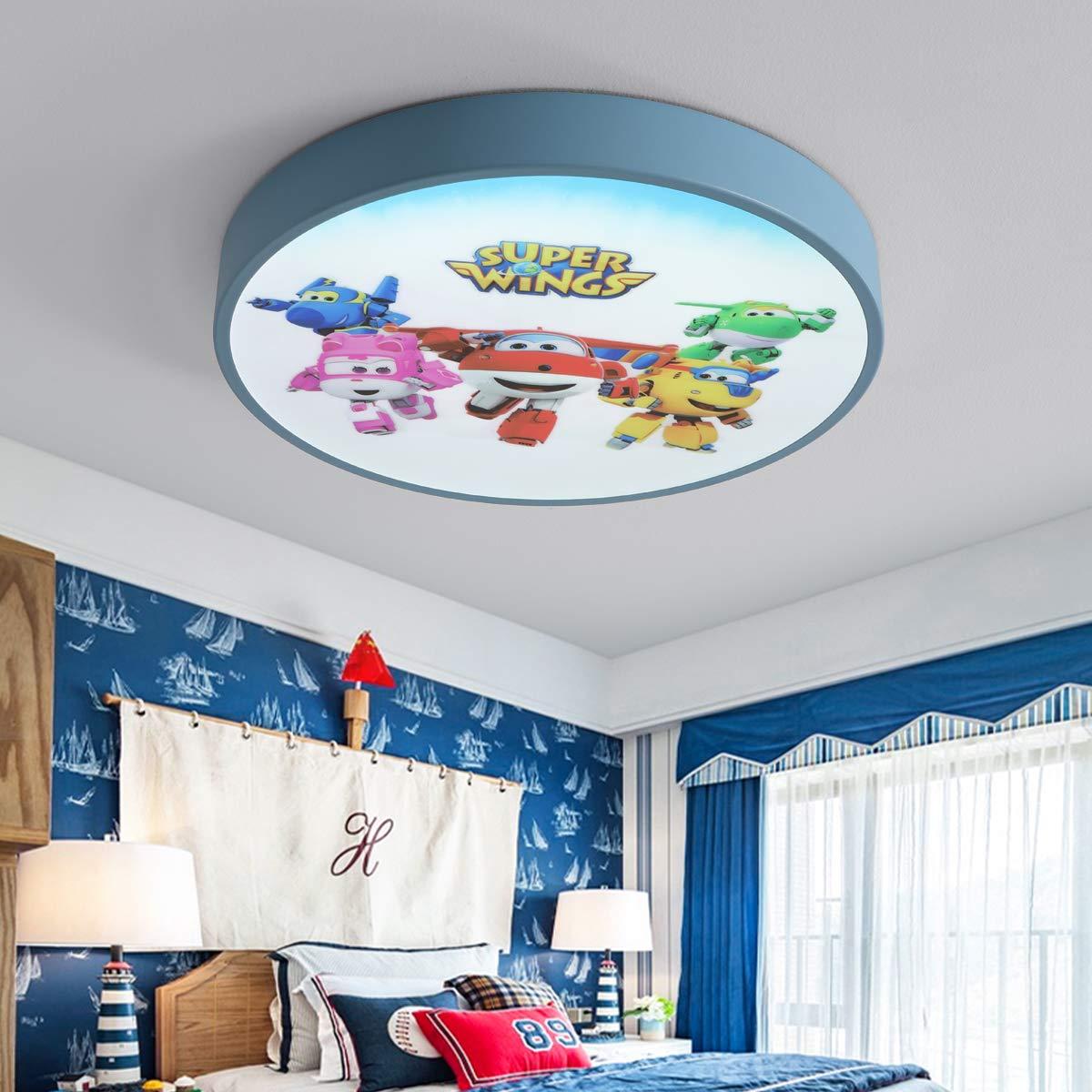 Super Wings 24W Deckenleuchte LED ultra d/ünne Deckenlampe dimmbar mit Fernbedienung 3000-6000K moderne Lampe f/ür k/üche Dieler Schlafzimmer Wohnzimmer 40 Blau 40 5cm