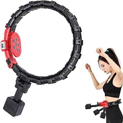 little baby Smart Hoola Hoop,Adjustable Weighted Hoola Hoops for Adults and Kids,Exercise Equipment Abdomen Waist Exercise Detachable Massage Intelligent Counting Hoola Hoop