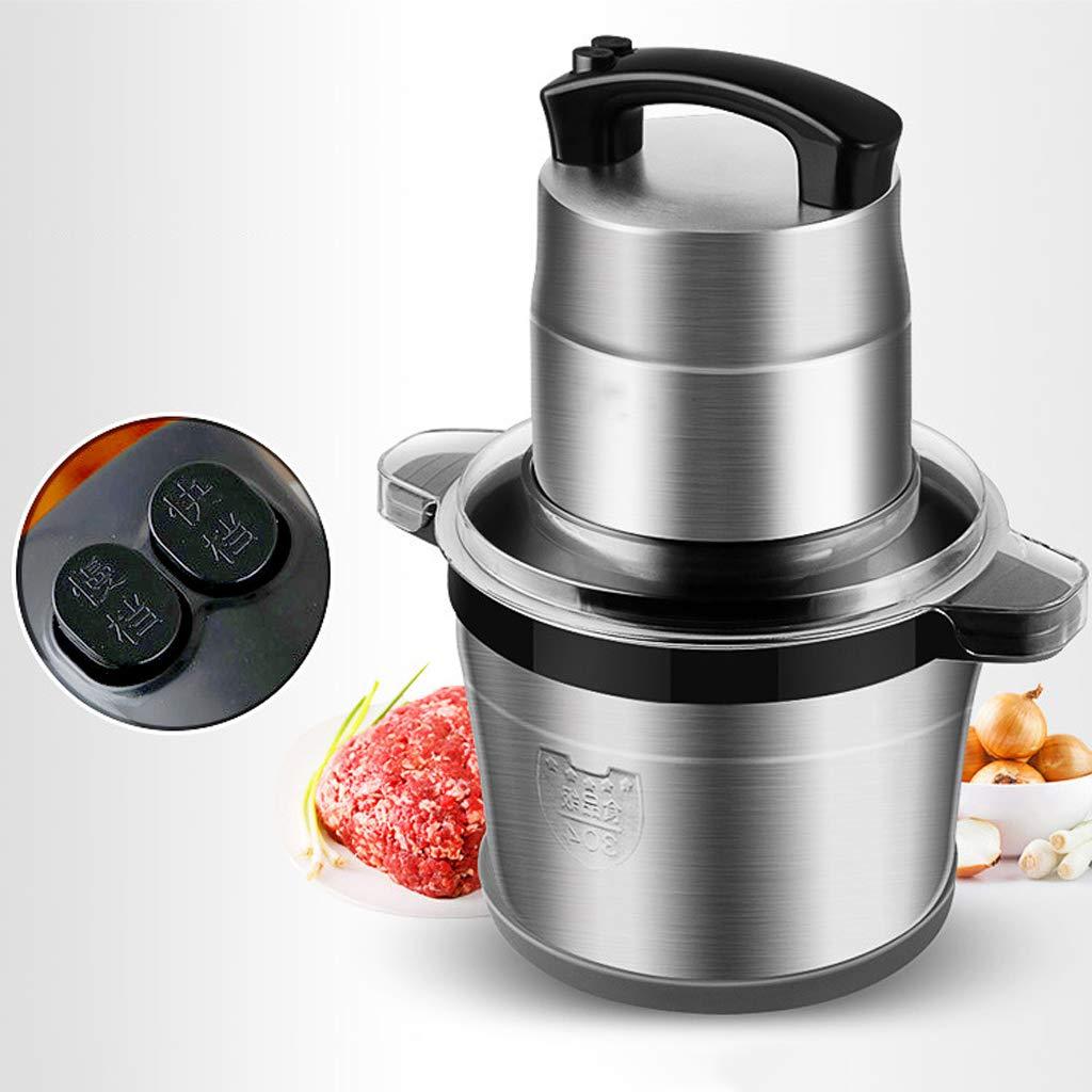 Cebolla y nueces 1200 W 220 V con Barril de Acero Inoxidable para Carne Frutas Procesador de Alimentos Profesional Comercial de Gran Capacidad de 6L Picadora de Carne el/éctrica Verduras
