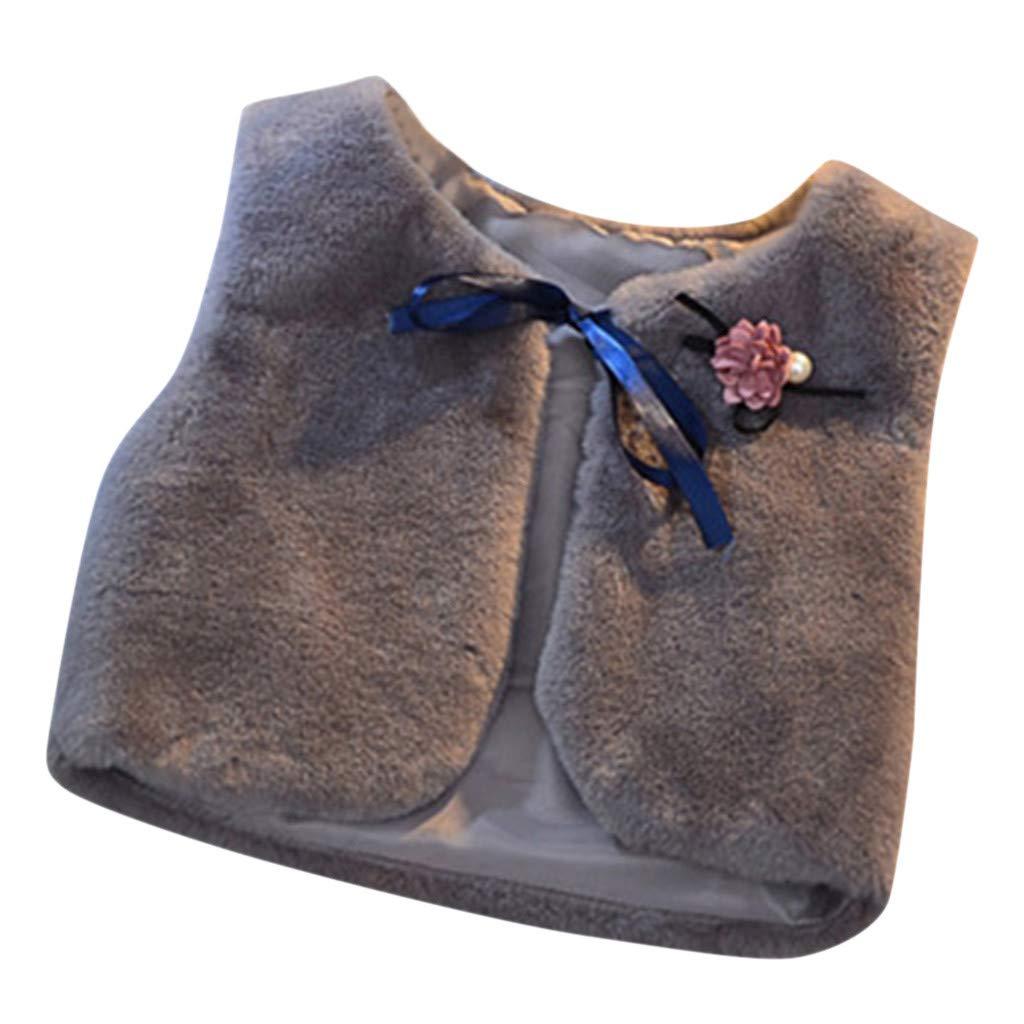 Lanhui Girls Fur Jackets Vest 2020 New Baby Kids Autumn Rabbit Hair Vests Waistcoat Kids Clothes Outerwear with Corsage