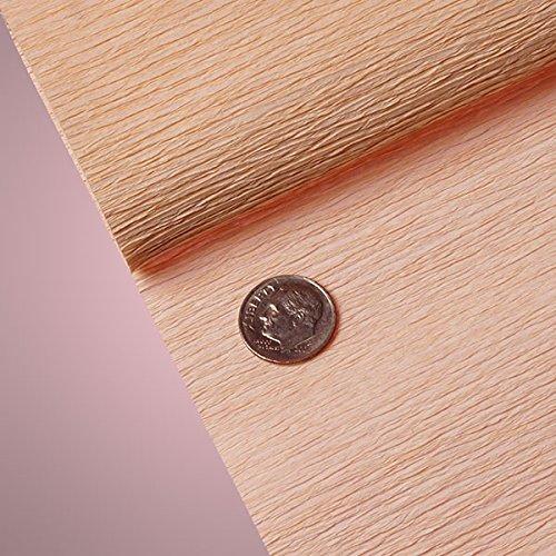 Peach Crepe (PREMIUM COLORED CREPE PAPER - Top quality Italian paper craft (Peach))