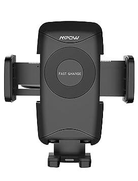 Mpow Qi Cargador Inalámbrico Rápido para Coche, Soporte Móvil Coche, para Ranura CD, Carga Rápida de 3 Modelo, para iPhone 8/ iPhone 8 Plus/iPhone X, ...
