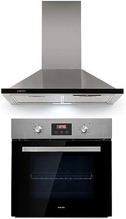 Klarstein Kalahari Galina lote de cocina - Horno y extractor de humos, Horno de 68 litros/clase