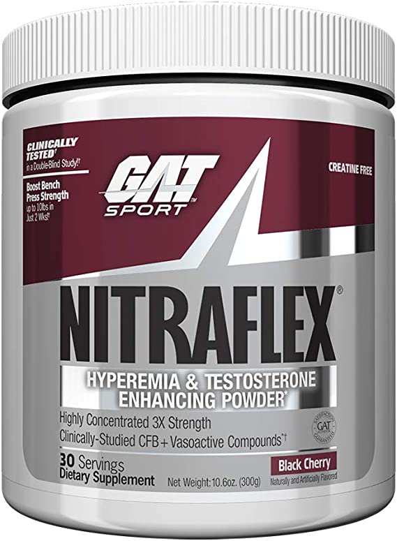 GAT Nitraflex - 30 Servings (Black Cherry) Sports Supplements at amazon